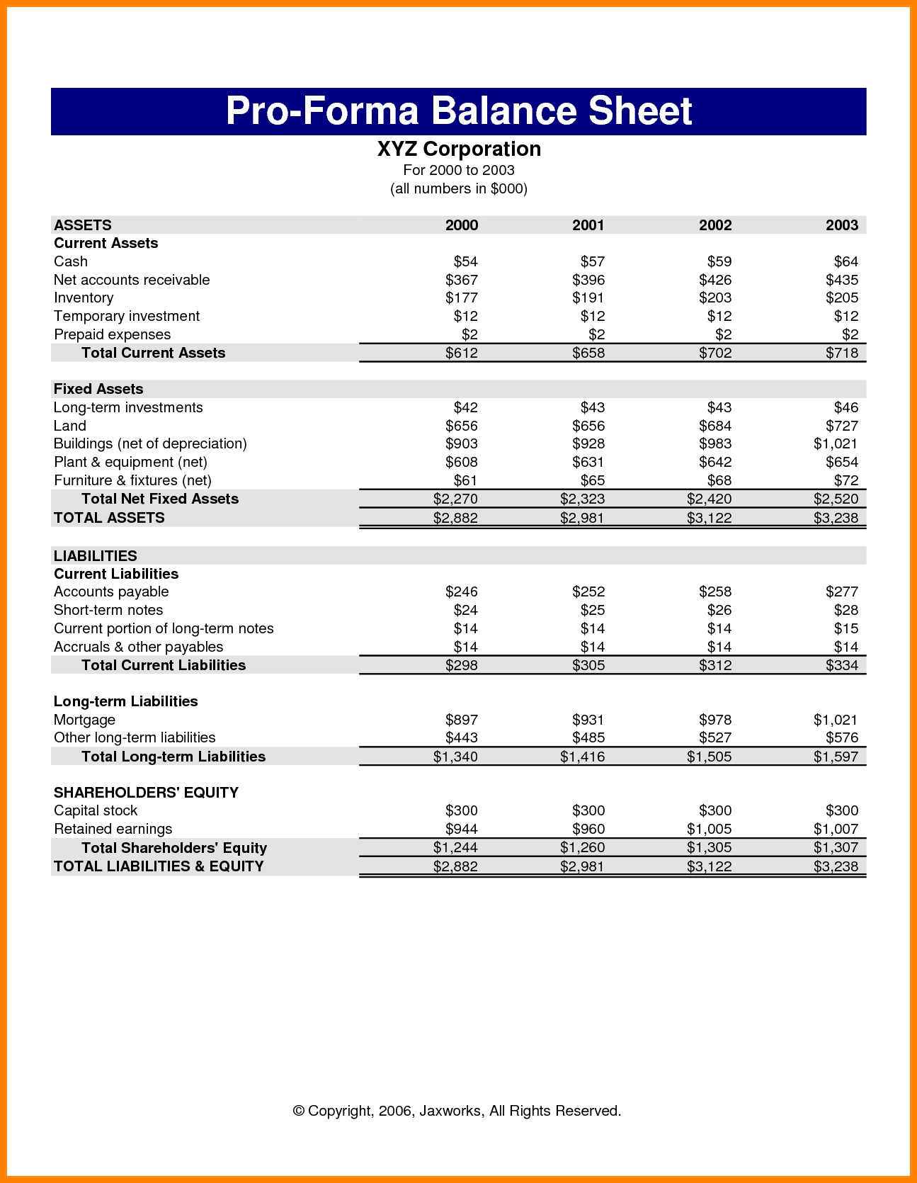 Pro Forma Income Statement Generator | db-excel.com