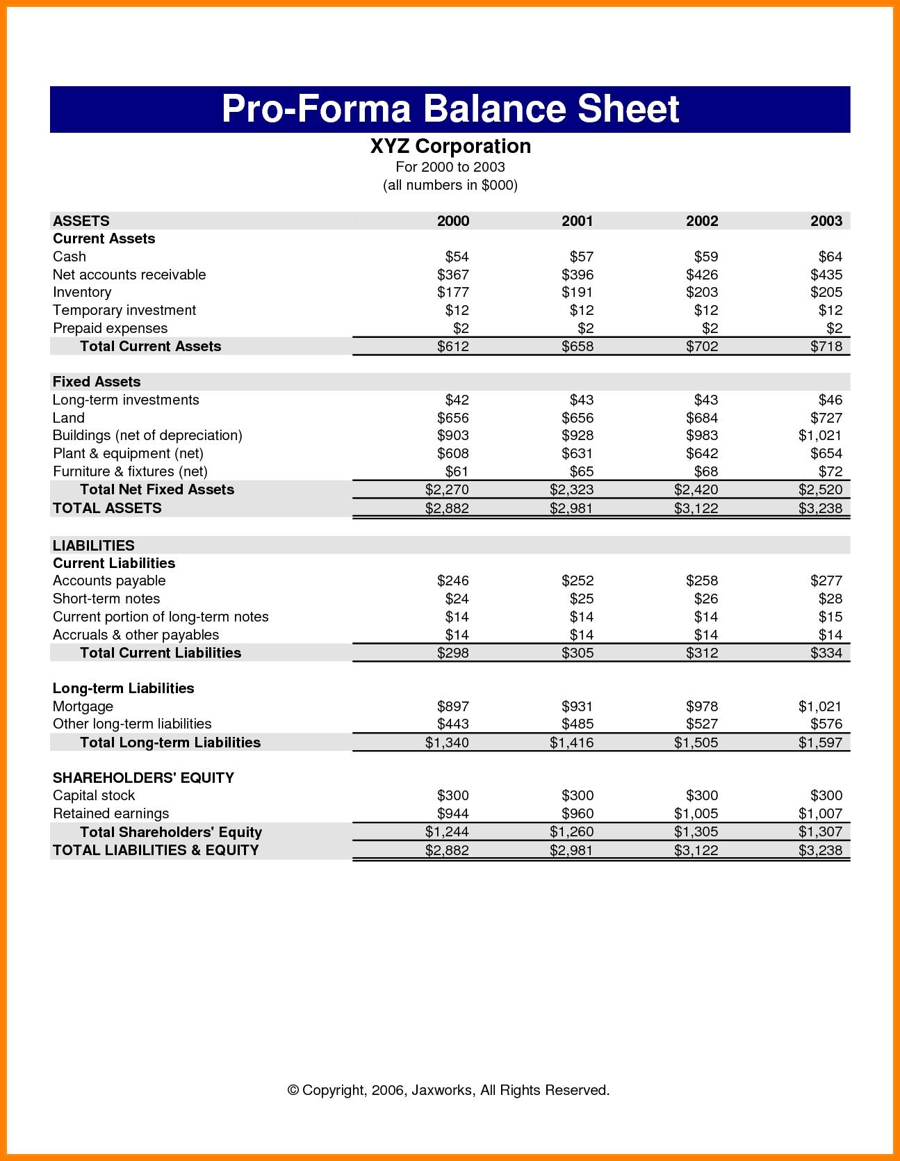 7 Pro Forma Income Statement Template | Case Statement 2017 Within With Pro Forma Income Statement Generator