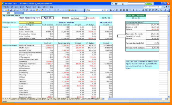 7  Small Business Accounting Excel Template | Stretching And With Excel Templates For Business Accounting