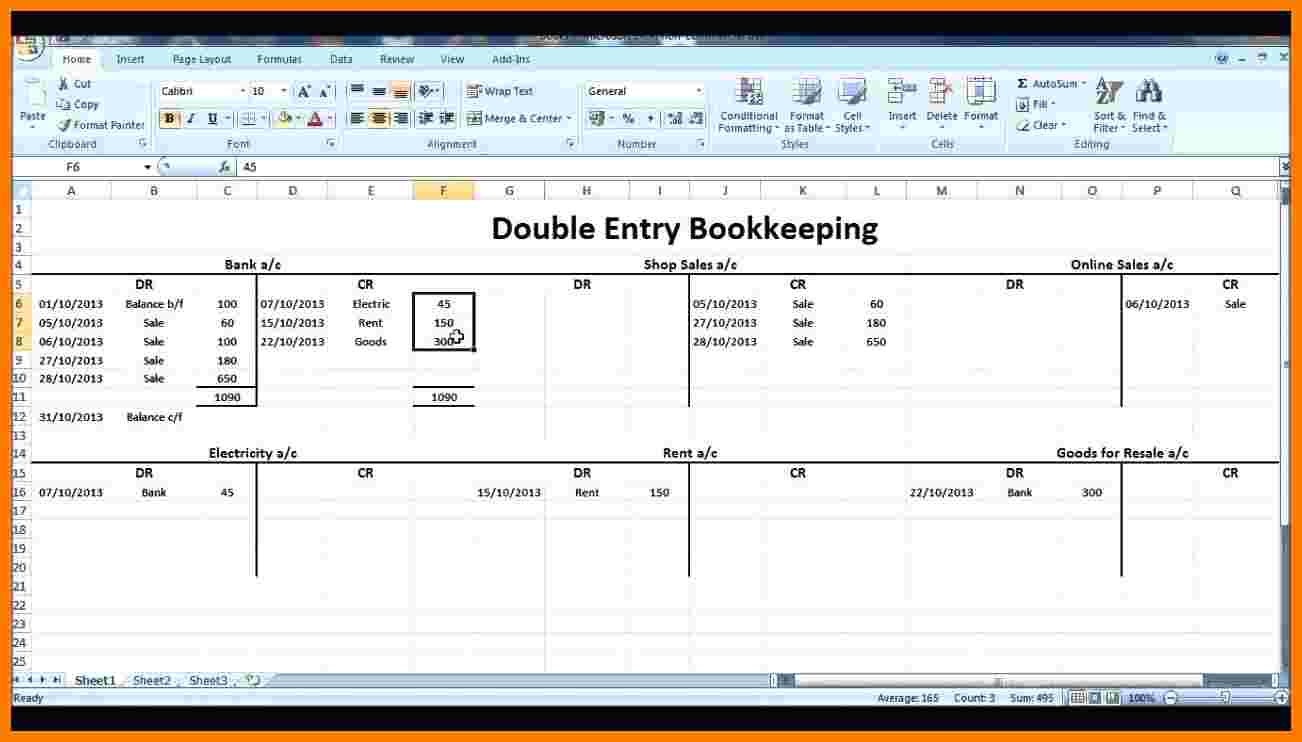 8  Double Entry Ledger Template | Ledger Review In Excel Double Entry Bookkeeping Template Free