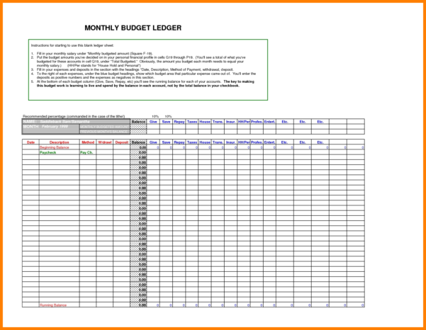 9  Free Excel Ledger Template | Ledger Review Within Free Accounting Excel Templates