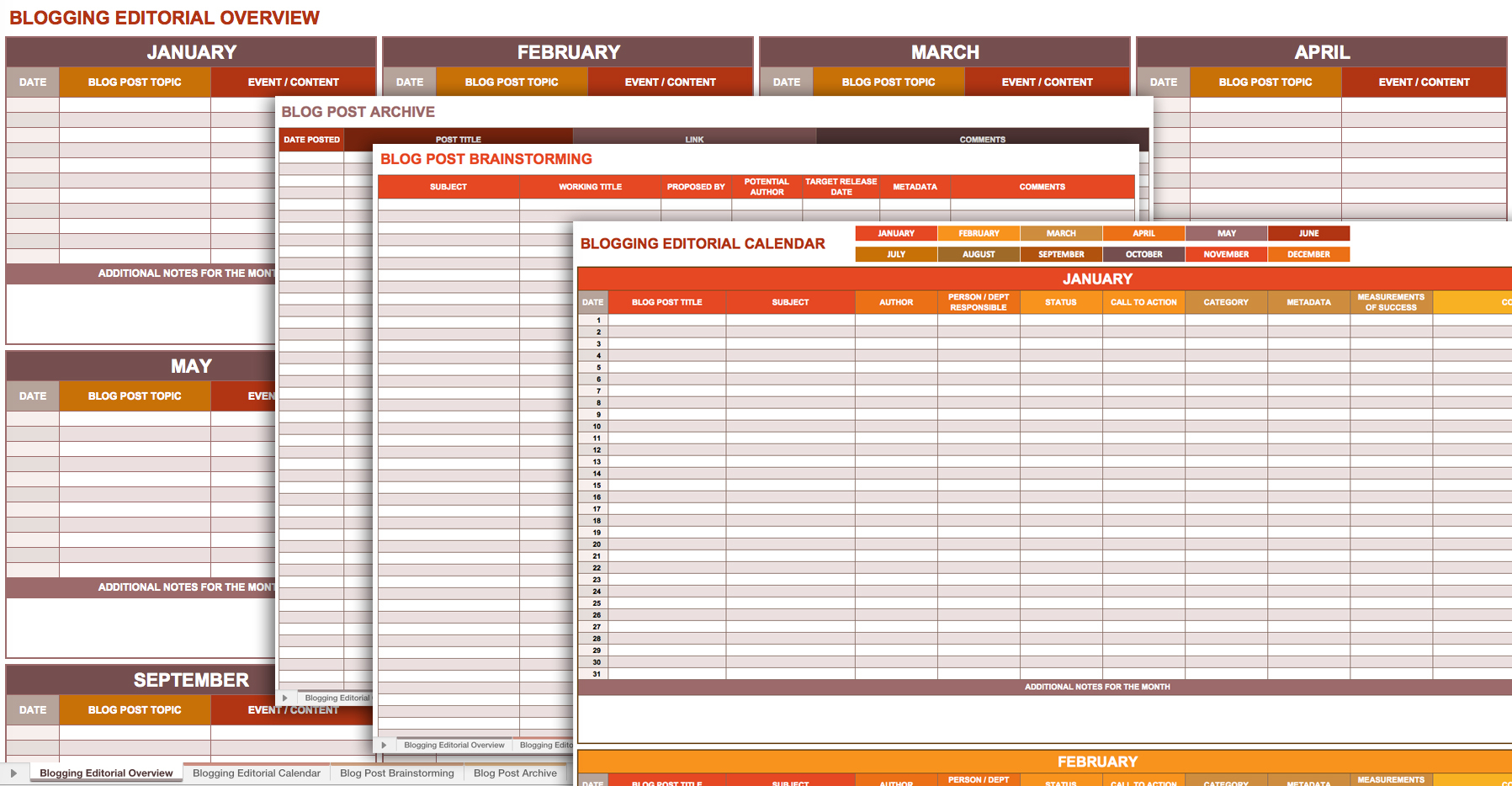 9 Free Marketing Calendar Templates For Excel   Smartsheet To Marketing Calendar Template Free