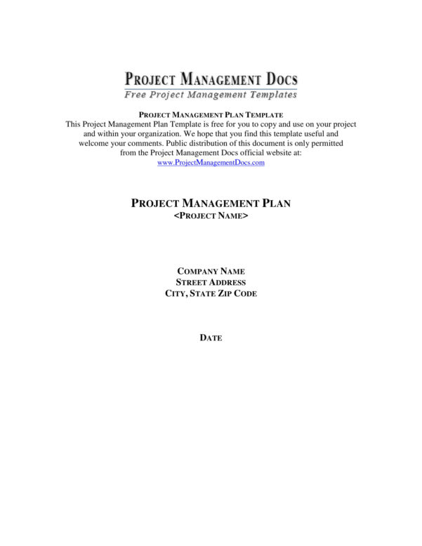 9  Project Management Plan Template Examples   Pdf Within Project Management Templates Pdf