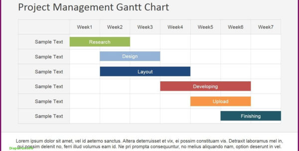 ˆš Project Management Gantt Chart Powerpoint Template Slidemodel To Project Management Presentation Templates