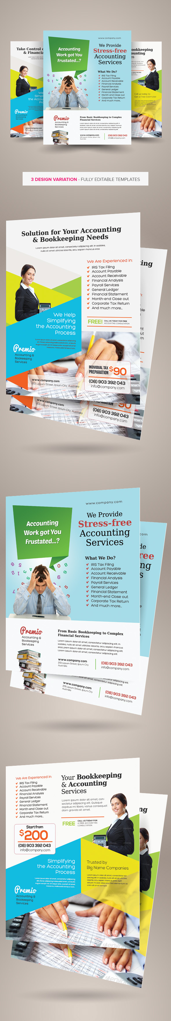 Accounting And Bookkeeping Services Flyers On Behance Intended For Bookkeeping Flyer Template