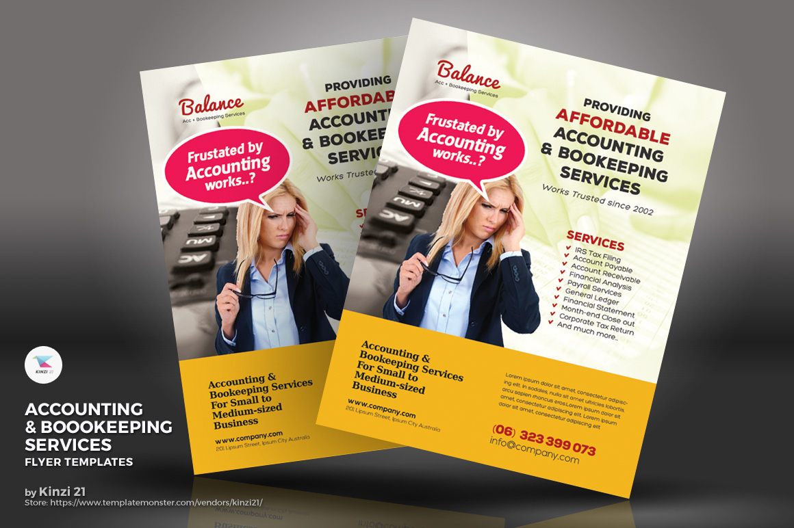 Accounting & Bookkeeping Services Flyers Corporate Identity Template In Bookkeeping Flyer Template Free