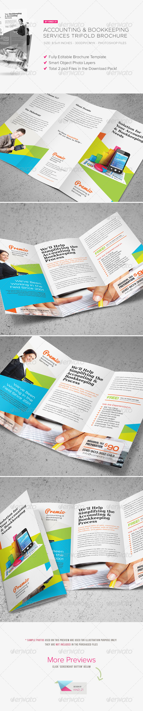 Accounting & Bookkeeping Services Trifold Brochurekinzi21 Inside Bookkeeping Flyer Template