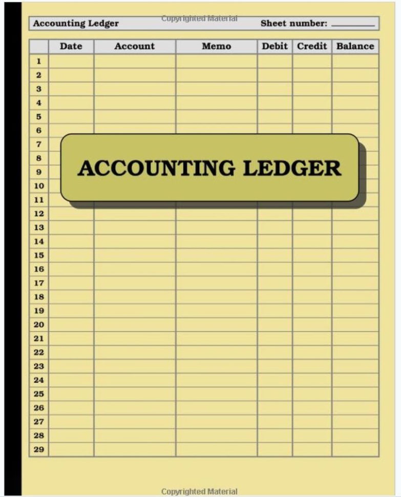 Accounting Ledger Book Bookkeeping Small Business Finance Account Inside Bookkeeping For Ebay Business