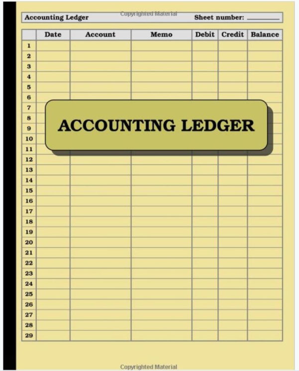 Accounting Ledger Book Bookkeeping Small Business Finance Account To Bookkeeping For Ebay Sellers