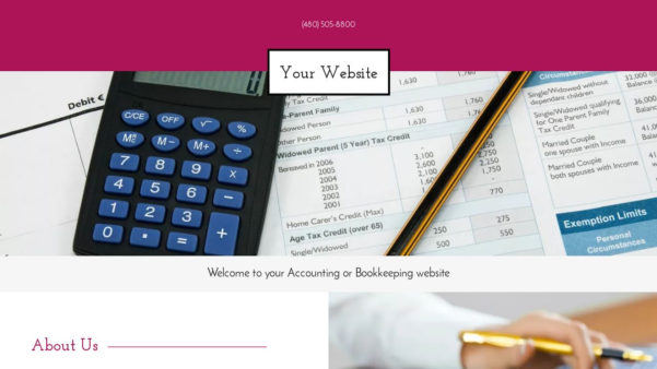 Accounting Or Bookkeeping Website Templates | Godaddy Intended For Bookkeeping Website Templates