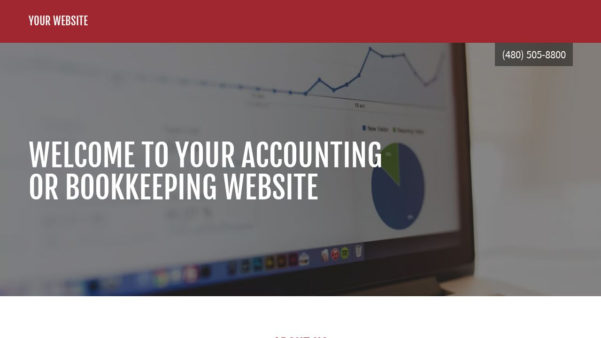 Accounting Or Bookkeeping Website Templates | Godaddy Throughout Bookkeeping Website Templates