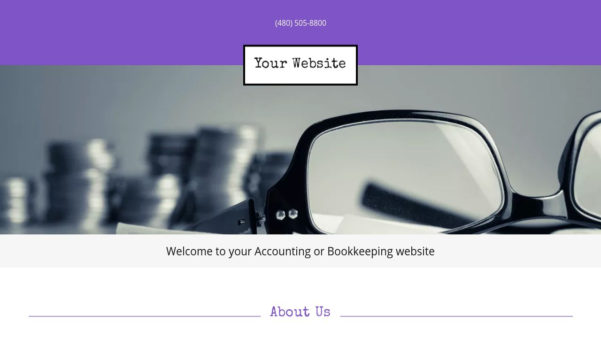 Accounting Or Bookkeeping Website Templates | Godaddy With Bookkeeping Website Templates
