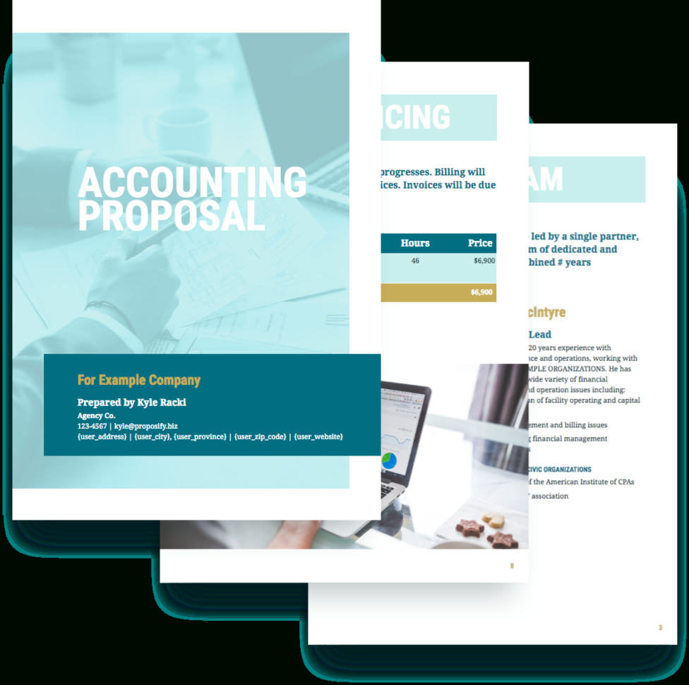 Accounting Proposal Template   Free Sample | Proposify To Bookkeeping Flyer Template Free
