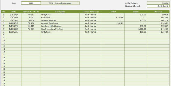 Accounting Templates For Excel Microsoft And Open Office Templates Within Excel Accounting Templates General Ledger