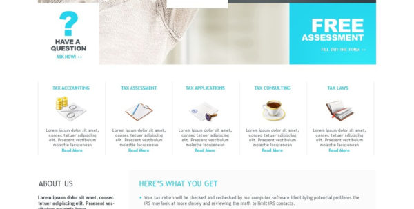 Accounting Website Website Template #24552 Inside Bookkeeping Website Templates