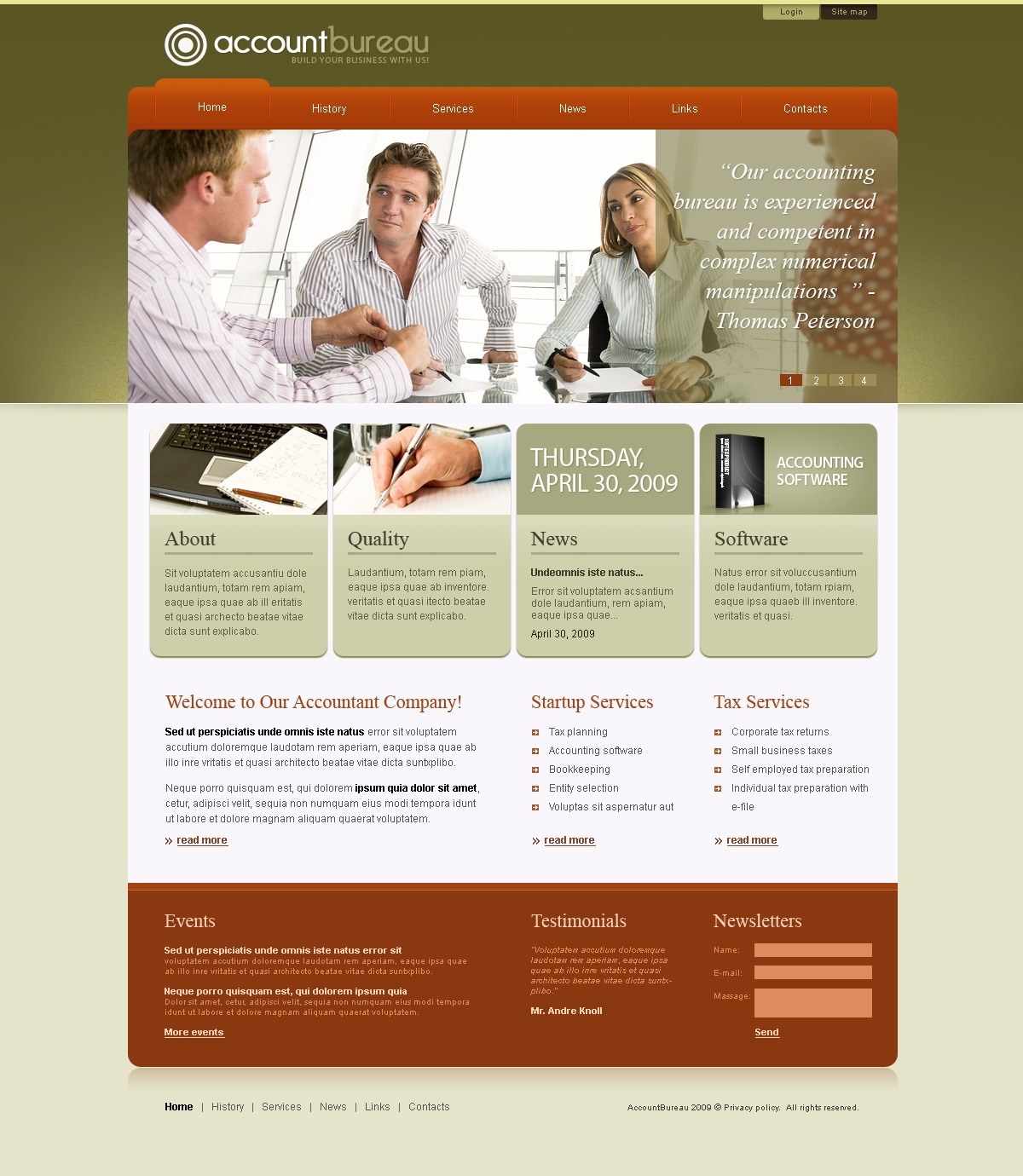 Accounting Website Website Template #25163 With Bookkeeping Website Templates