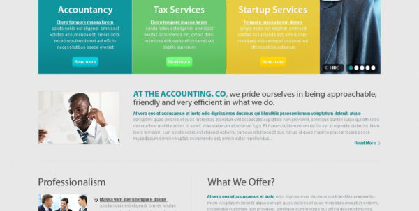 Accounting Website Website Template #32127 With Bookkeeping Website Templates