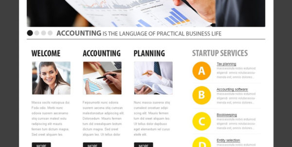 Accounting Website Website Template #32829 In Bookkeeping Website Templates