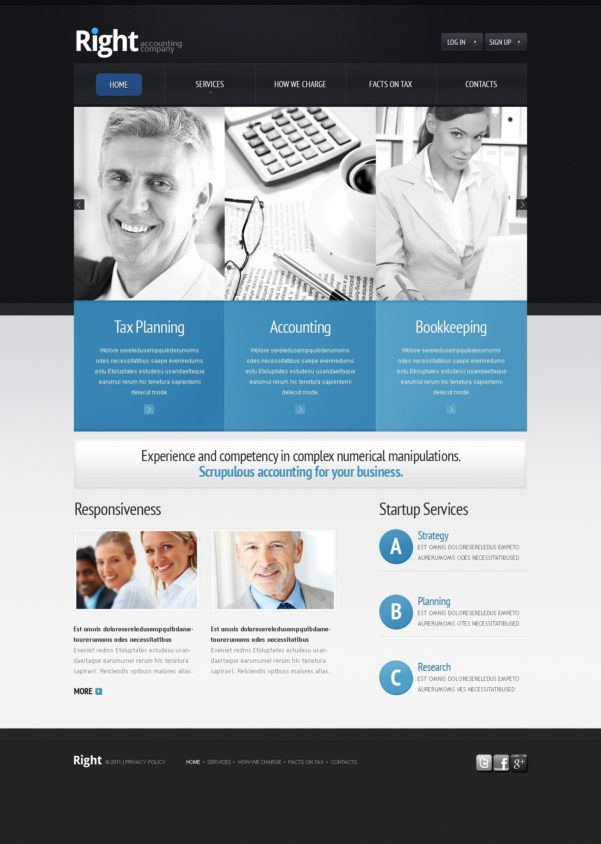 Accounting Website Website Template #36646 And Bookkeeping Website Templates