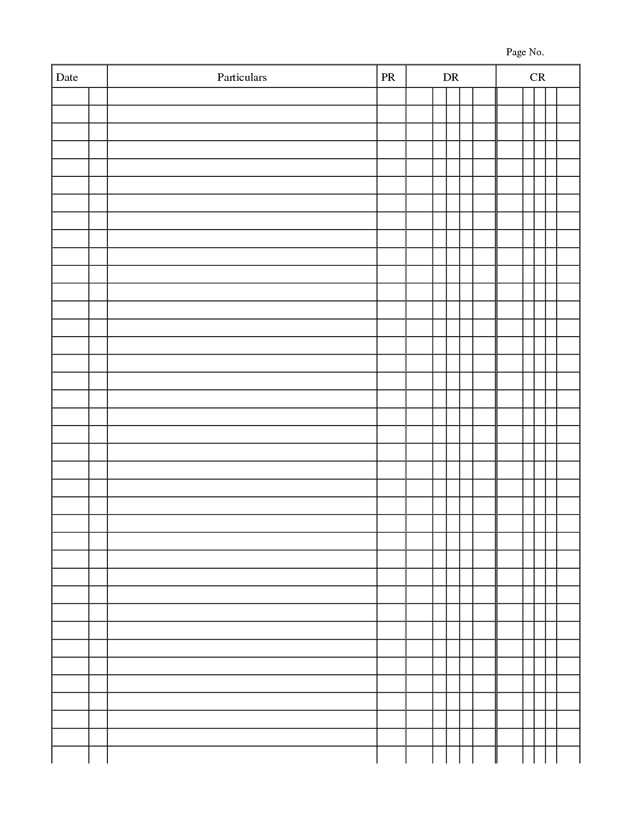 Accounting Worksheet Template Chic General Ledger Template Pdf Inside Bookkeeping Templates Pdf