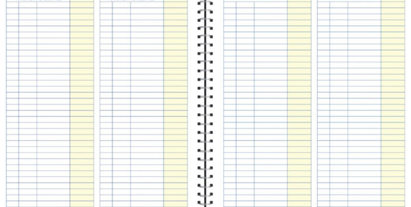 "Adams Adams Monthly Bookkeeping Record Book, Spiral Bound, 8 1/2"" X 11"" For Monthly Bookkeeping Record Template"