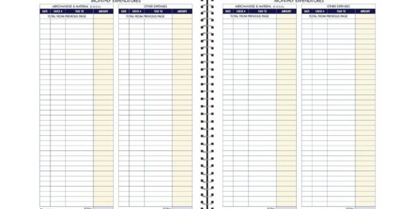 Adams Bookkeeping Record Book Monthly Format 8.5 X 11 Inches White With Bookkeeping For Ebay Business
