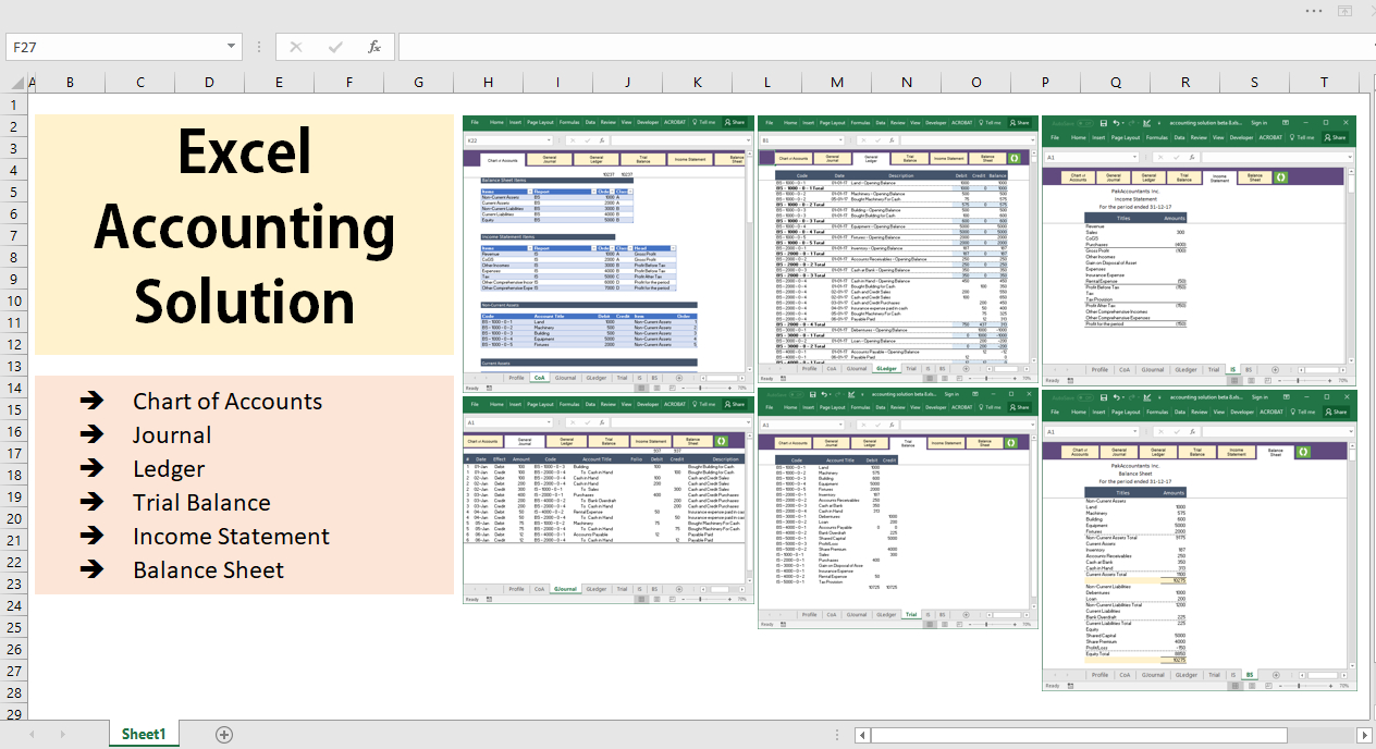 All Excel Accounting And Bookkeeping Solution   Template For Accounting Spreadsheets Excel Formulas