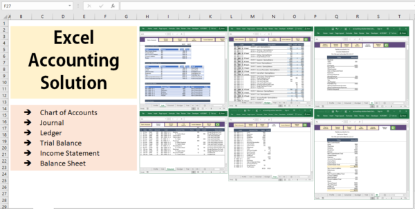 All Excel Accounting And Bookkeeping Solution   Template Intended For Bookkeeping Spreadsheet Excel