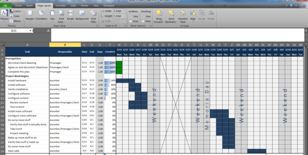 An Excel Project Planning Spreadsheet – Mlynn And Project Management To Project Management Plan Templates Free