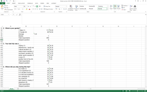 Analyze Your Survey Results In Excel   Checkmarket For Survey Spreadsheet Template