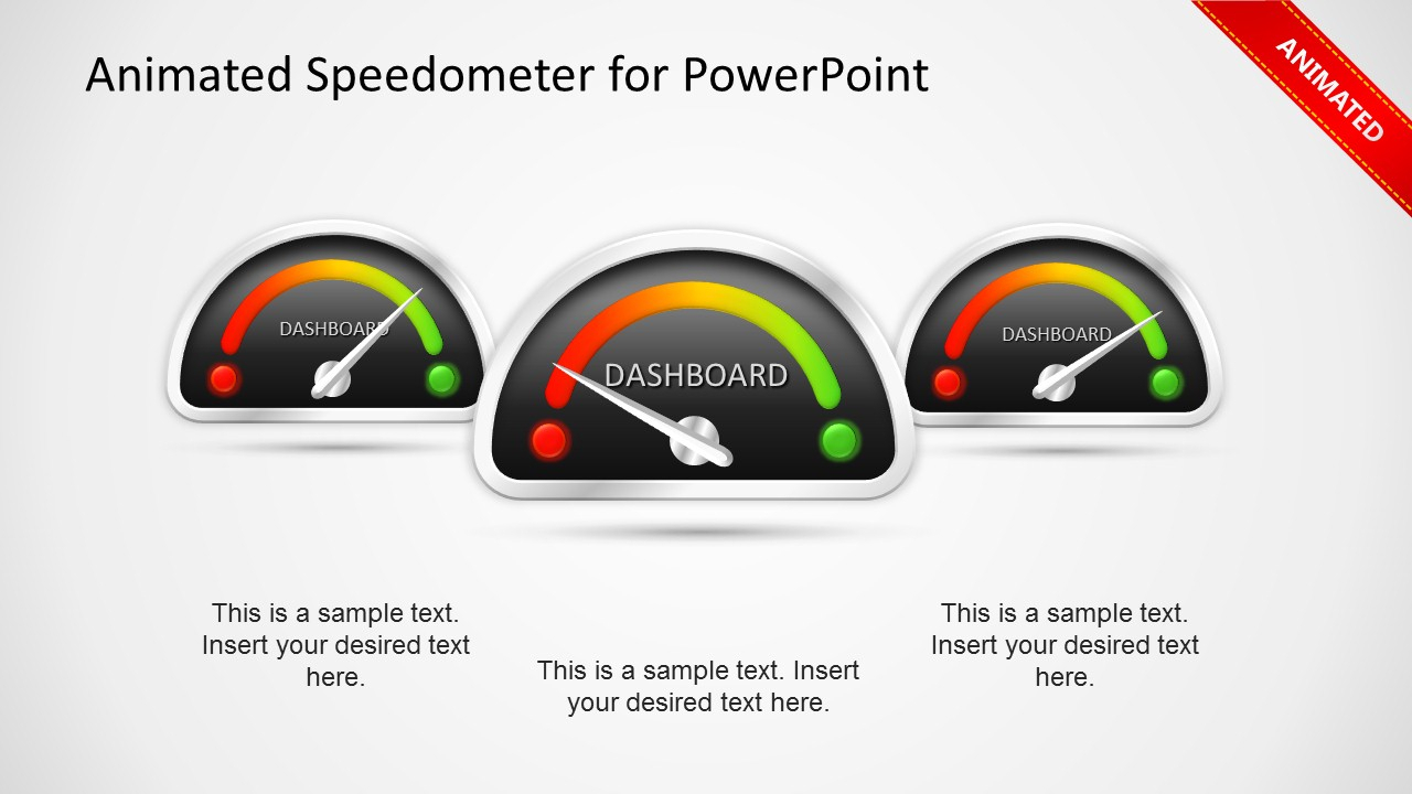 Animated Dashboard Speedometer Template For Powerpoint - Slidemodel In Free Excel Speedometer Dashboard Templates