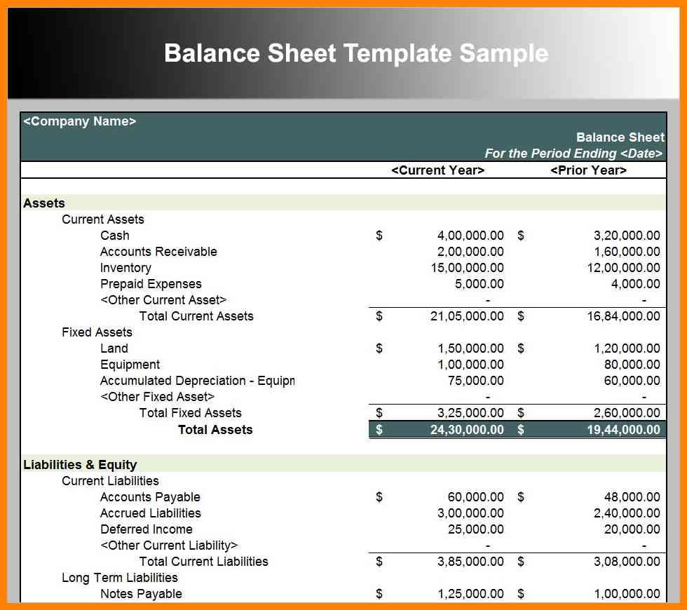 Balance Sheet Example Excel | Khairilmazri With Balance Sheet Template Excel