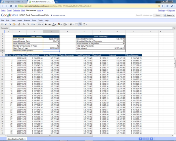 Loan amortization spreadsheet excel spreadsheet template for Car payment schedule template
