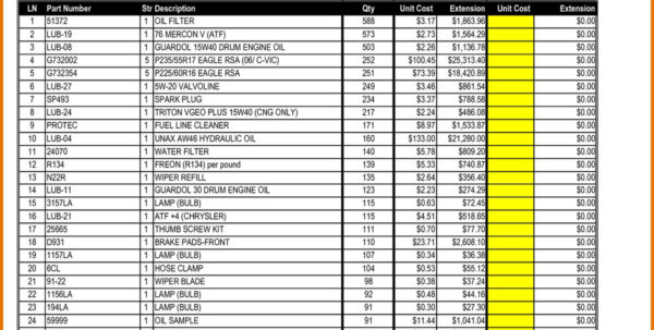Bar Inventory Spreadsheet On Inventory Spreadsheet How To Make A For Inventory Spreadsheet