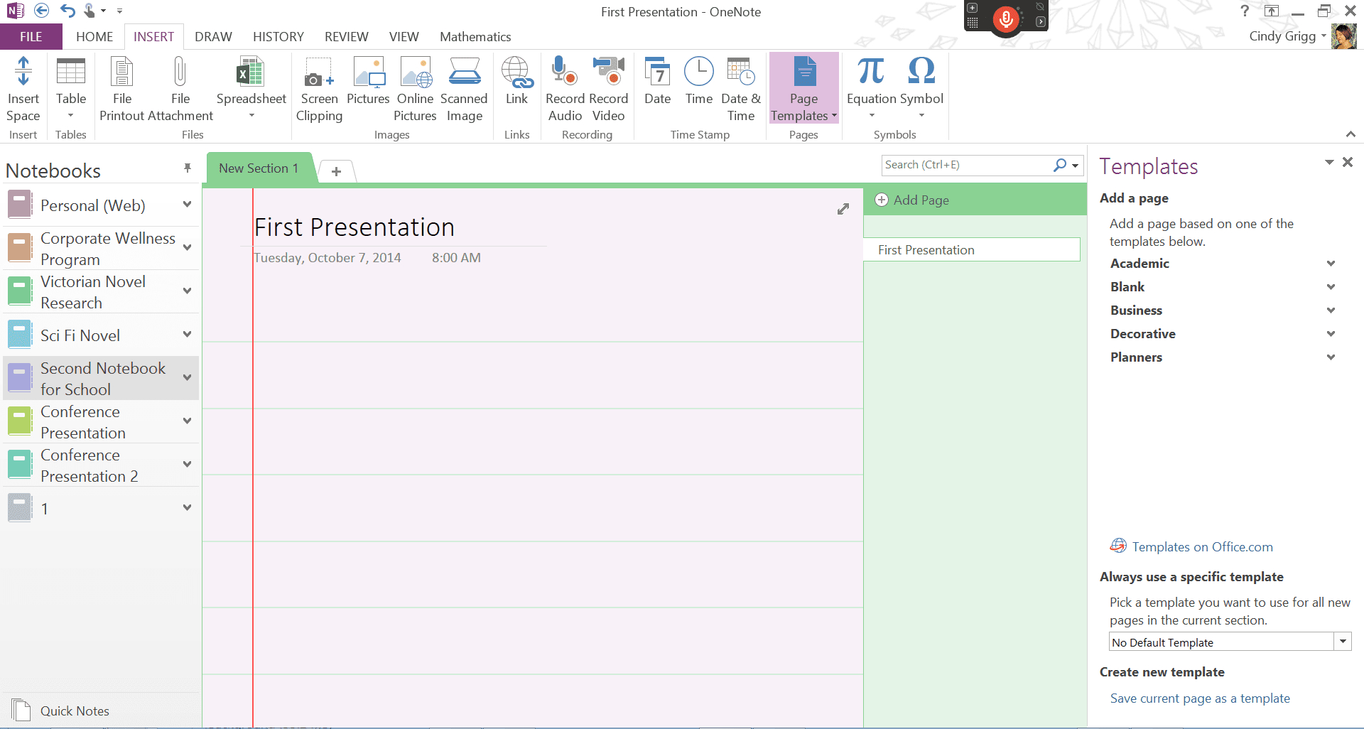 Beautiful Onenote Project Management Template | Template Intended For Project Management Templates For Onenote