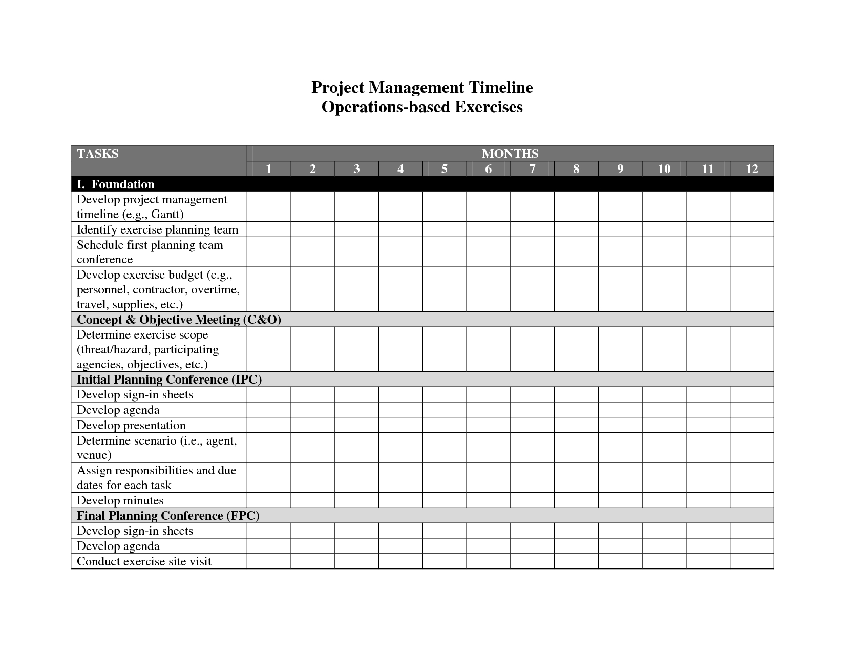 Best Photos Of Project Management Timeline Template   Project Within Project Management Templates Word