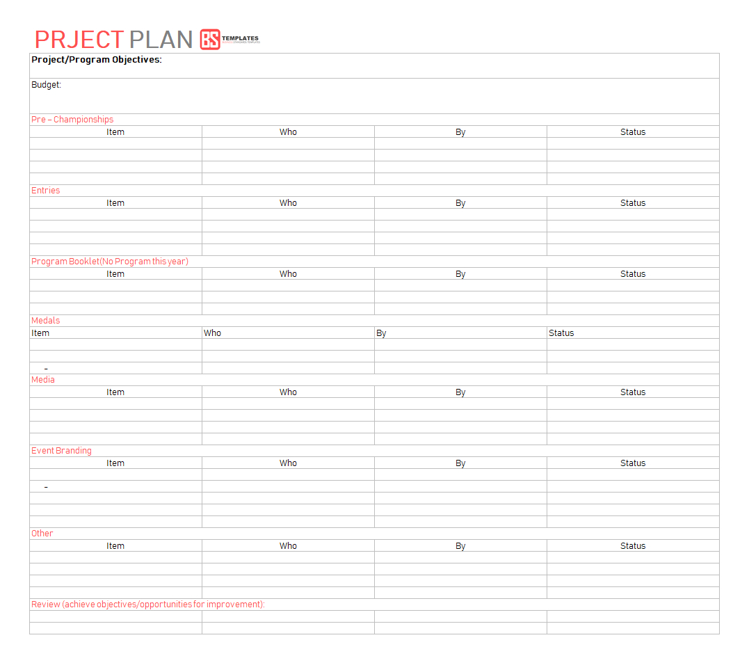 Best Project Plan Template For Excel – 9  Free Word, Excel, Pdf Format Inside Project Management Plan Template Free Download