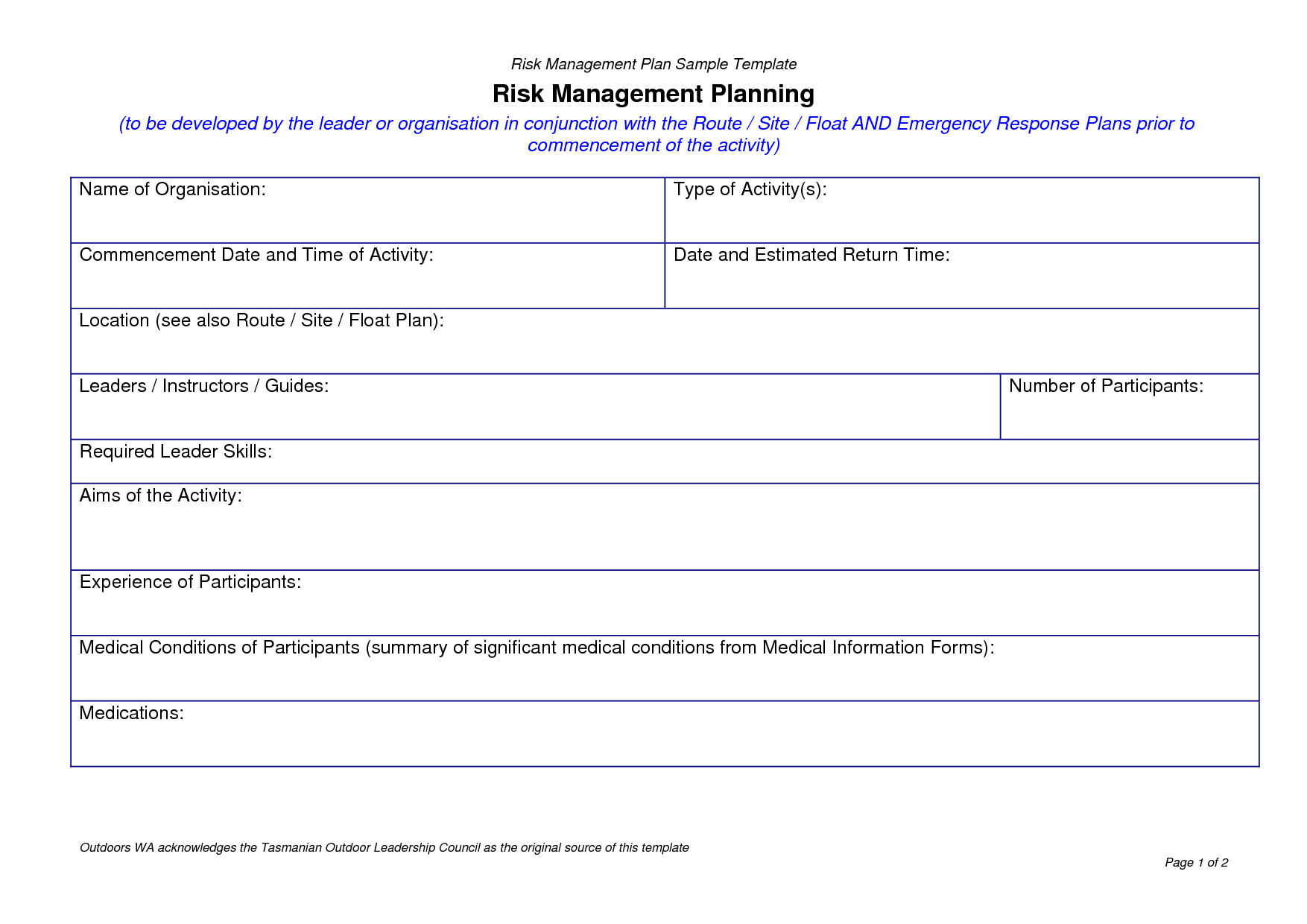 Best Risk Management Plan Template Pdf Images >> 29 Risk Mitigation Within Project Management Plan Templates Free