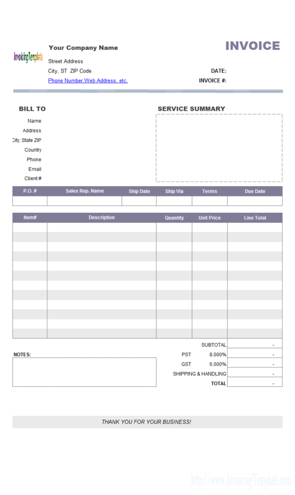 Billing Software Excel Free Download Throughout Business Invoice Program Sample