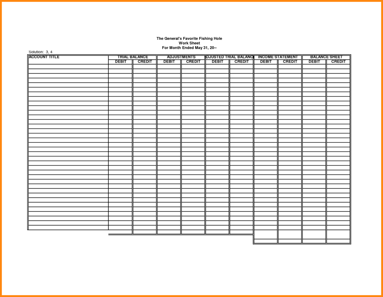 Blank Accounting Worksheet Template Filename | Down Town Ken More Inside Blank Accounting Spreadsheet