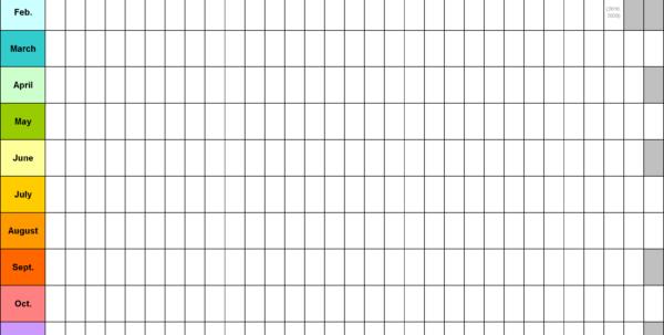 Blank Calendar   9 Free Printable Microsoft Word Templates Throughout Blank Worksheet Templates Blank Worksheet Templates Excel Spreadsheet Templates