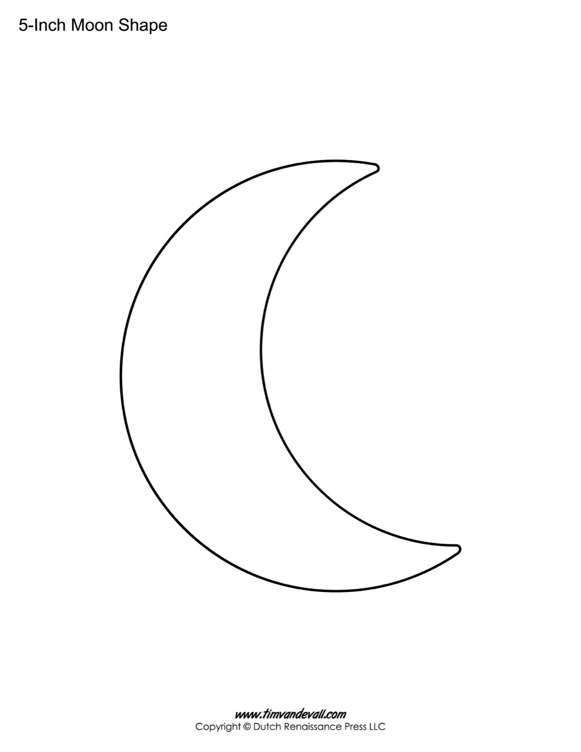 Blank Moon Templates | Printable Moon Shapes To Blank Worksheet Templates