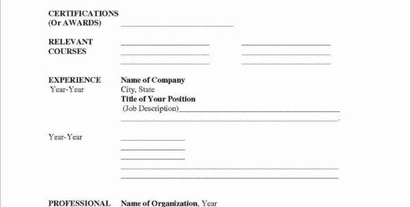 Blank Resume Forms To Fill Out Free Templates In The Printable 9 To Blank Worksheet Templates