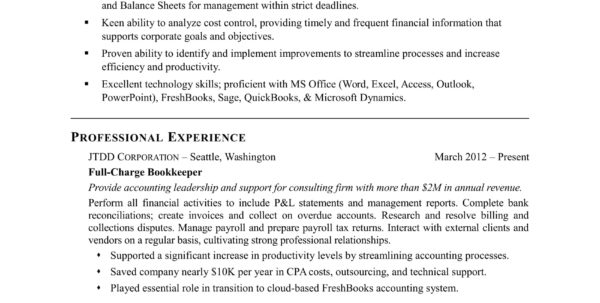 Bookkeeper Resume Sample | Monster Within Bookkeeping Resume Templates