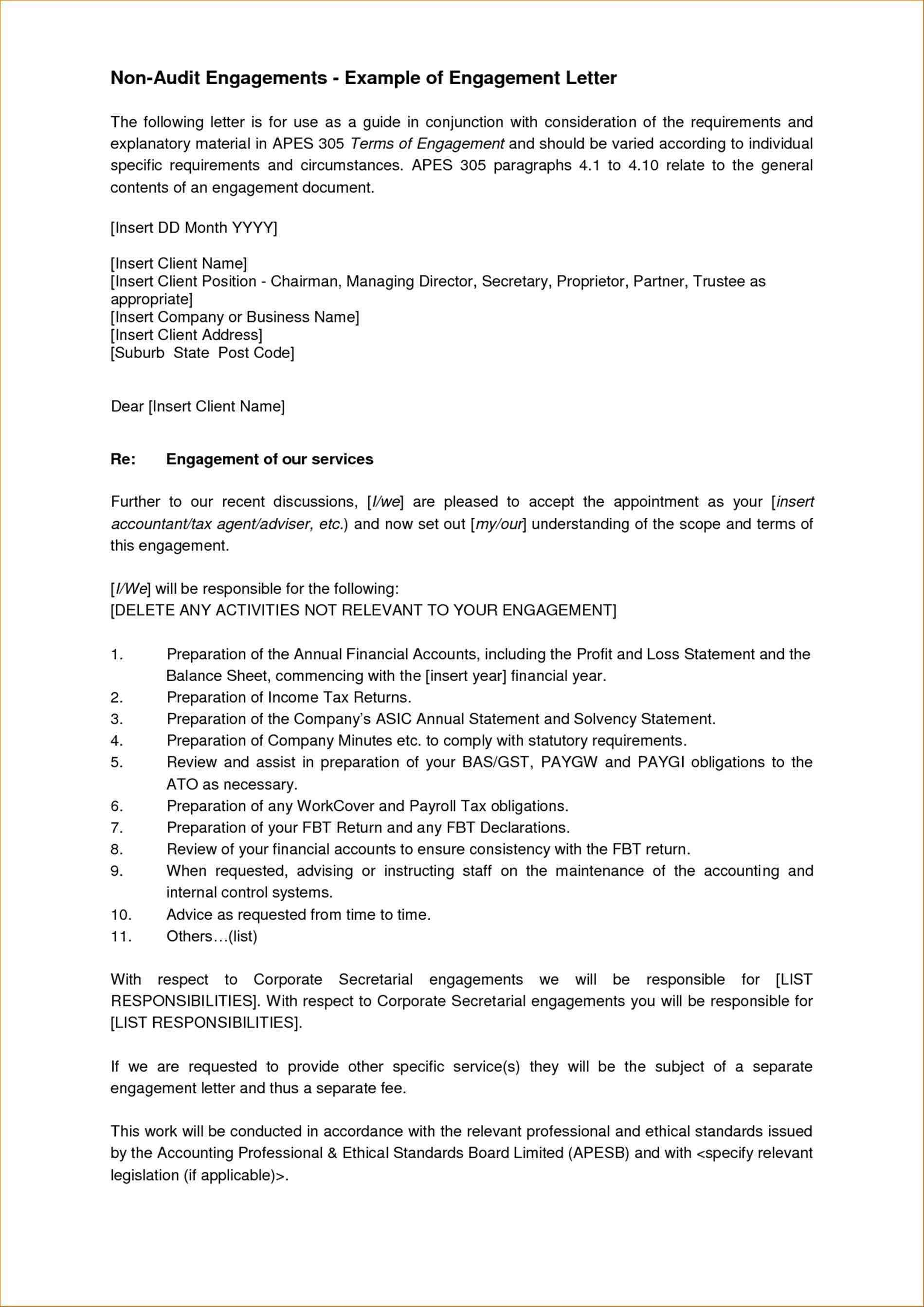 Bookkeeping Engagement Letter Template Download Throughout Bookkeeping Engagement Letter Example