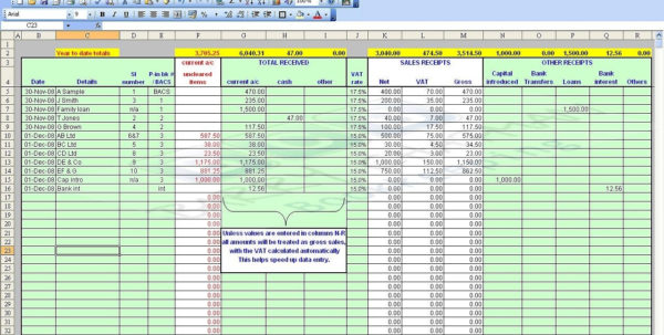 Bookkeeping Excel Template Use This General Ledger | Papillon Northwan With Bookkeeping Excel Templates