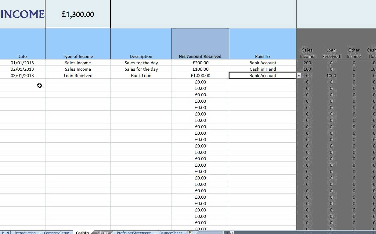 Bookkeeping For Self Employed Spreadsheet Template Free | Papillon For Self Employed Spreadsheet Templates