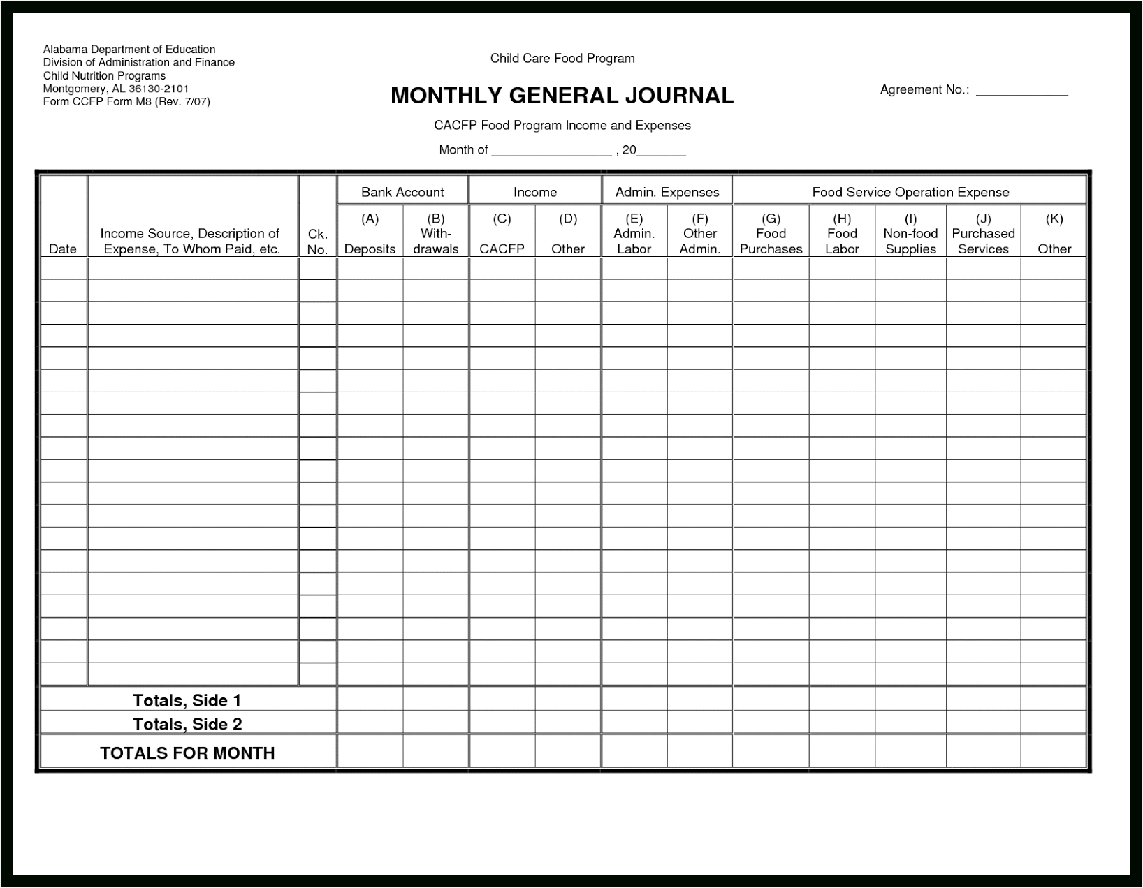 Bookkeeping Ledger Template – El Parga Inside Bookkeeping Ledger Template