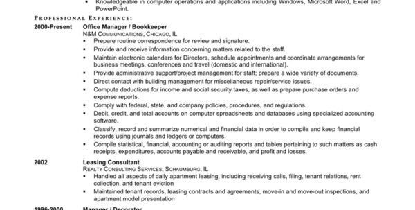 Bookkeeping Resume Examples 3   El Parga Throughout Bookkeeping Resume Samples
