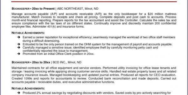 Bookkeeping Resume   Hirnsturm In Bookkeeping Resume Templates